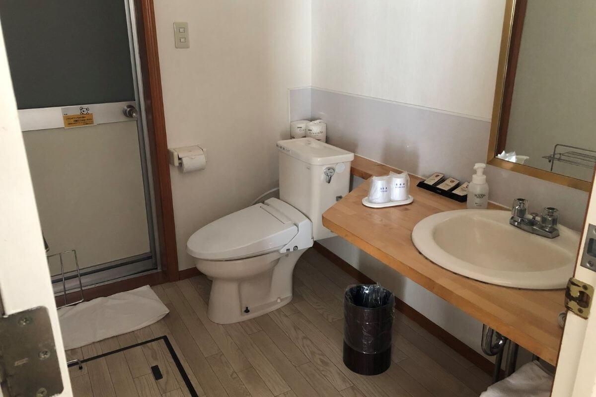 エンゼルフォレストレイクサイドドッグヴィラのトイレ